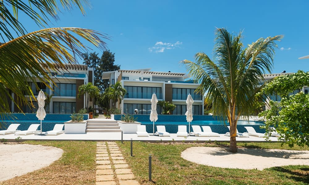 Cap Ouest front apartments residence pool