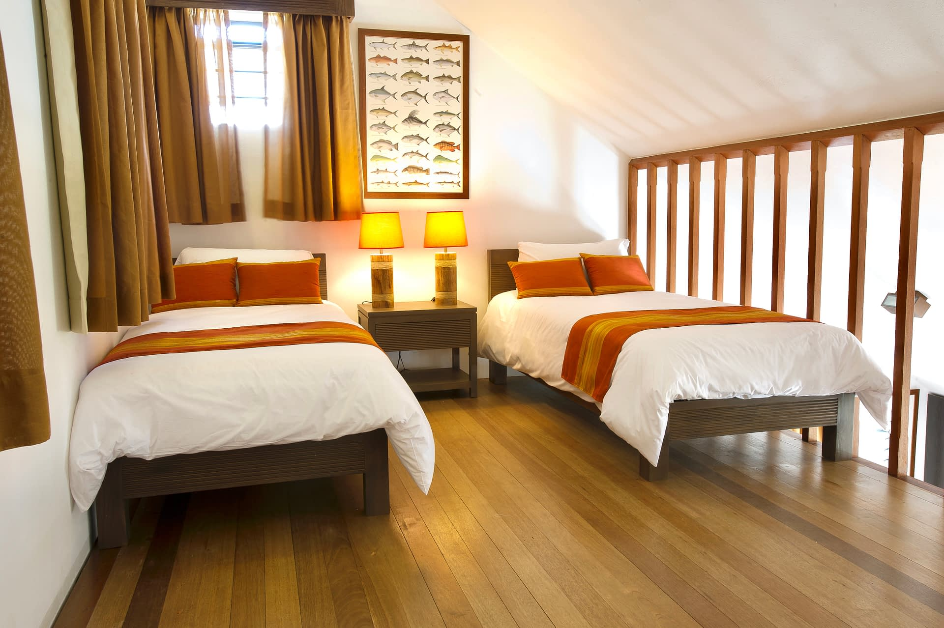 2 single beds attic