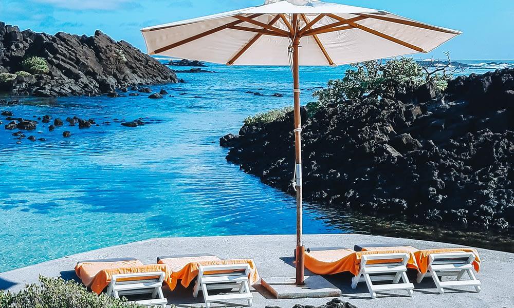 Villa Brisas beachfront sun bathing platform