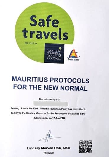 Safe travels Mauritius Protocols for the new normal