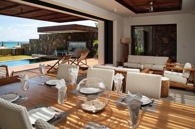Villa Coralie covered veranda