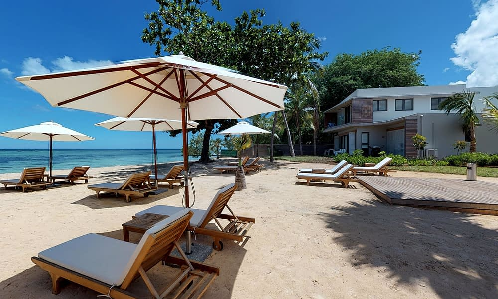 Manta Cove Beach sun beds
