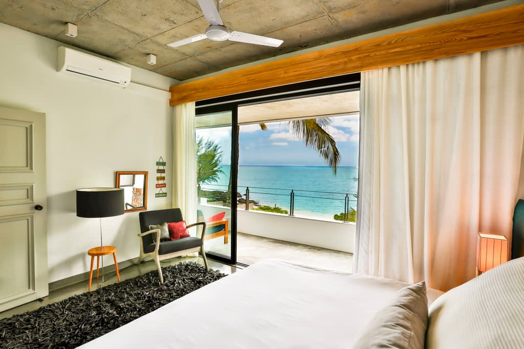 Villa CASITA bedroom with sea view