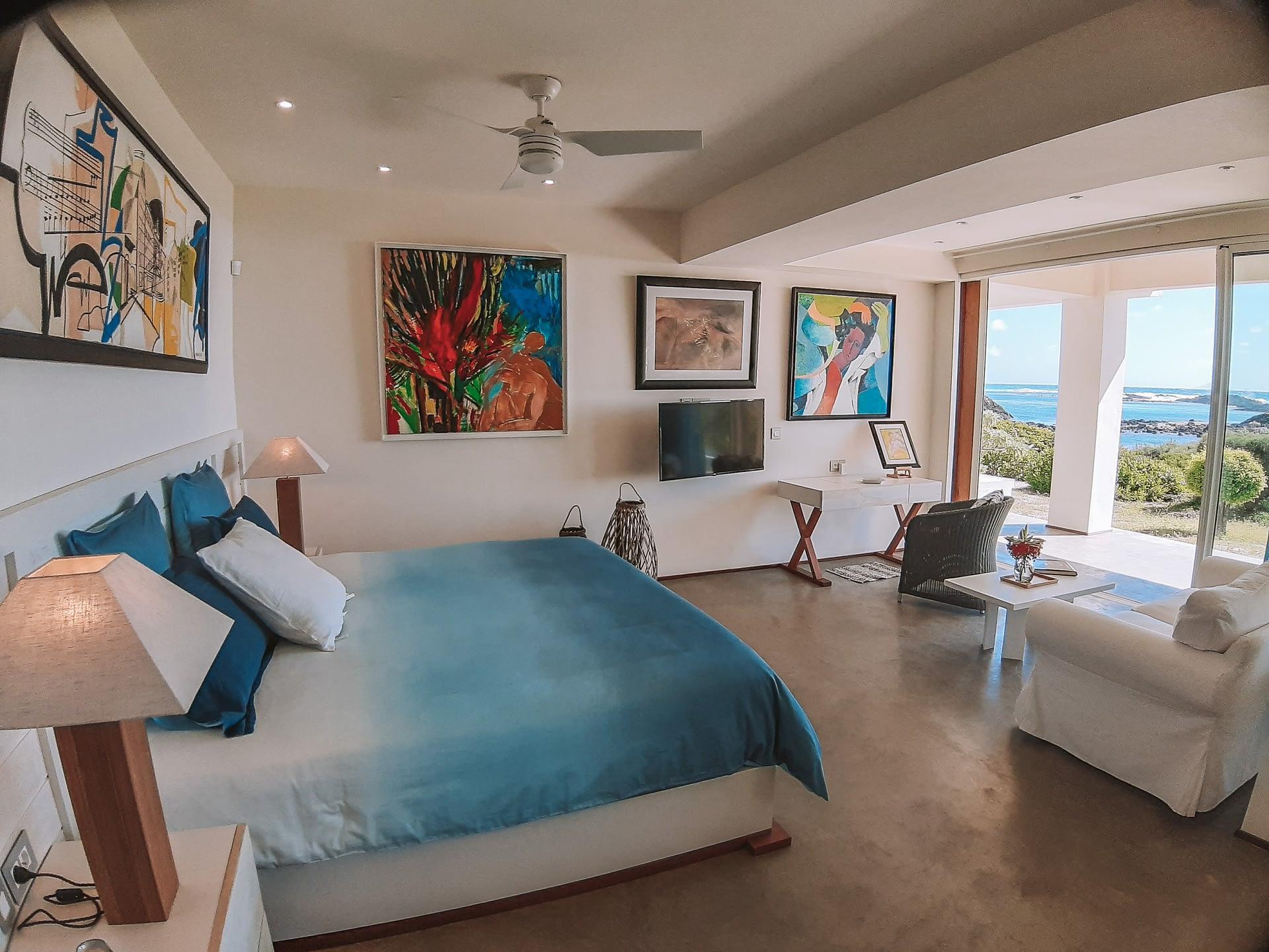 Villa Brisas beachfront master bedroom groundfloor