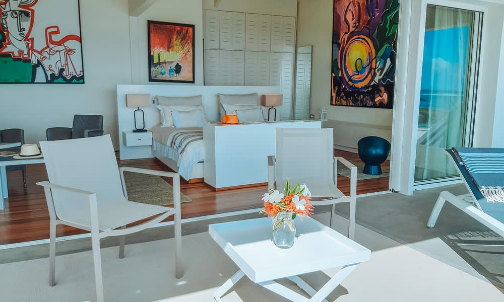 Villa Brisas beachfront master bedroom terrasse